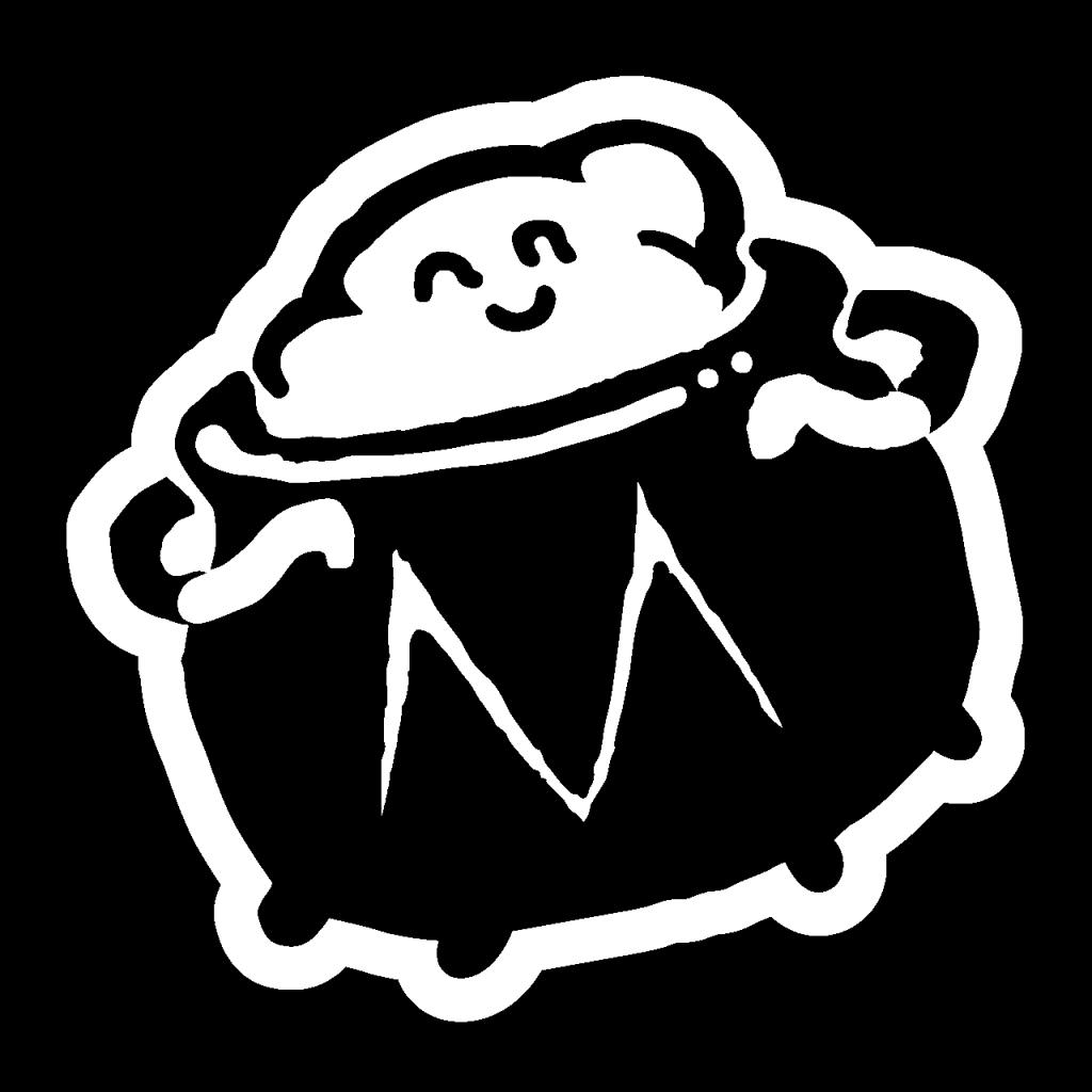 Mind Cauldron Logo white on transperant background.